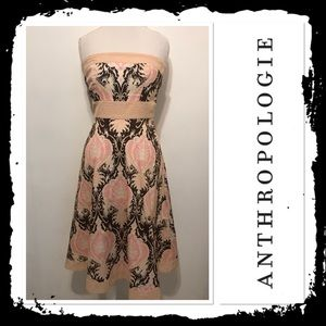 Anthropologie Molly New York Strapless Dress